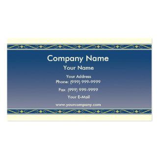 Fleur de lis border pack of standard business cards