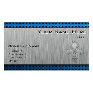 Fleur de lis; Brushed metal-look Pack Of Standard Business Cards
