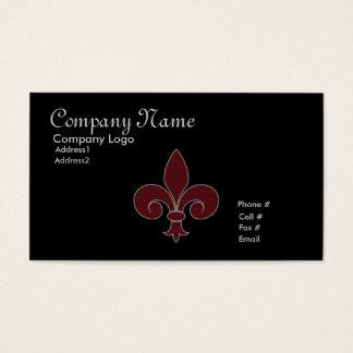 Fleur-De-Lis Business Card