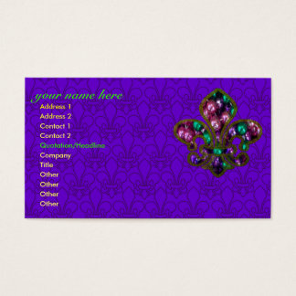 Fleur de Lis business card template