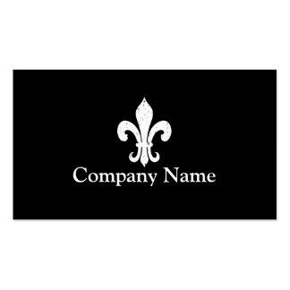 Fleur de lis business card template Black