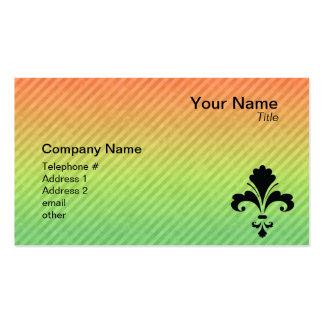Fleur de lis business card templates