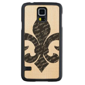 Fleur De Lis Carved Maple Galaxy S5 Case