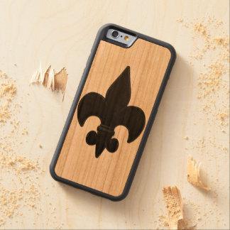 Fleur De Lis Carved® Cherry iPhone 6 Bumper