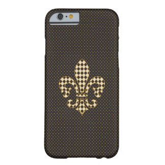 Fleur de Lis Checkered Pattern Barely There iPhone 6 Case