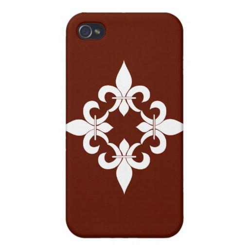 Fleur de Lis Chocolate  iPhone 4/4S Covers
