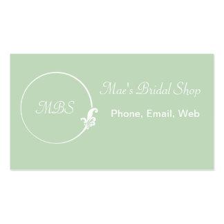 Fleur-de-Lis Circle Business Cards
