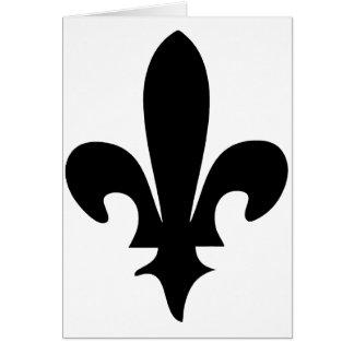 Fleur de lis Classic - black Cards