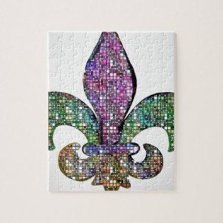 Fleur De Lis Color Box Jigsaw Puzzle