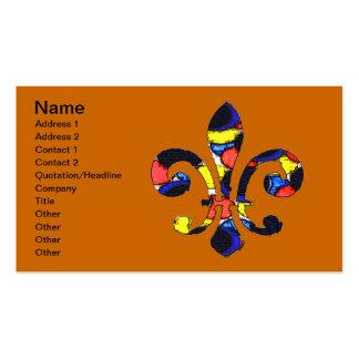 Fleur De Lis Color Bubbles, Pack Of Standard Business Cards