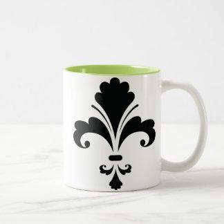 Fleur de lis; Cool Two-Tone Mug