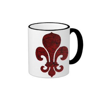 fleur-de-lis-cracked_red coffee mug