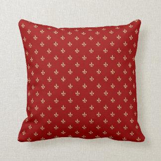 Fleur de lis cushion