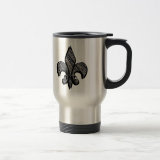 Fleur-de-lis customize it stainless steel travel mug