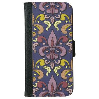 fleur de lis damask iPhone 6 wallet case