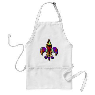 Fleur-de-lis designs apron