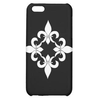 Fleur de Lis Ebony Cover For iPhone 5C