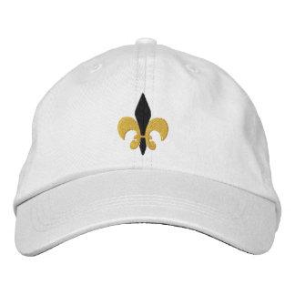 Fleur de lis embroidered hat
