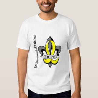 Fleur De Lis Endometriosis Hope Tee Shirts