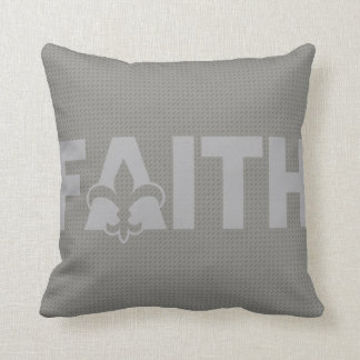 Fleur de lis Faith Cushion