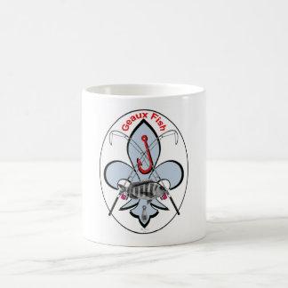 Fleur de lis fishing mug