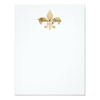 Fleur de Lis Flat Thank You Card
