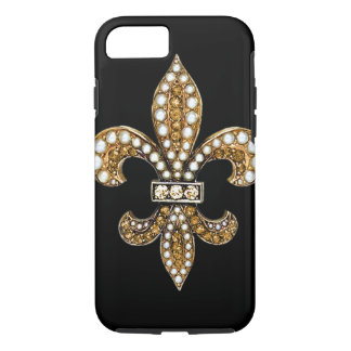 Fleur De Lis Flor New Orleans Gold iPhone 8/7 Case