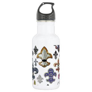 Fleur De Lis Flor  New Orleans Jewel Sparkle 532 Ml Water Bottle