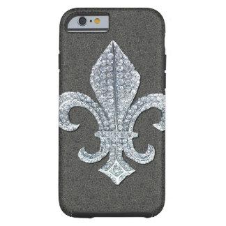 Fleur De Lis Flor  New Orleans Stone Jewel Tough iPhone 6 Case