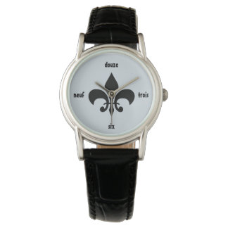 Fleur De Lis French Numeral Louisiana Watch