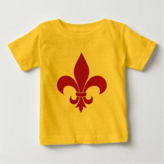 Fleur de lis French Pattern Parisian Design Baby T-Shirt