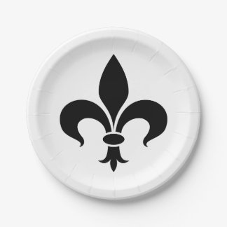 Fleur de Lis French Themed Party Paper Plates 7 Inch Paper Plate