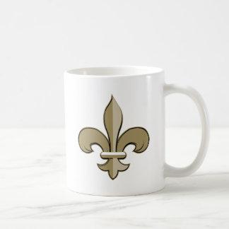 Fleur de lis - Gold and black Coffee Mugs