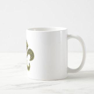 Fleur De Lis Gold Bevel Coffee Mugs