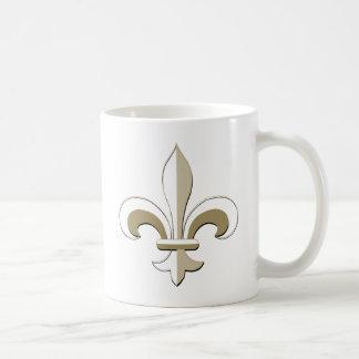 Fleur de lis - Gold Coffee Mug