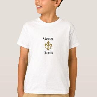 fleur de lis gold, Geaux, Saints T-Shirt