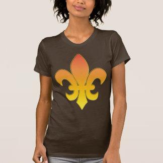 fleur de lis - gold tee shirts