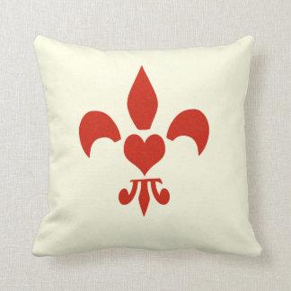 Fleur de Lis Heart Cushion