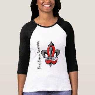 Fleur De Lis Heart Disease Hope T-Shirt