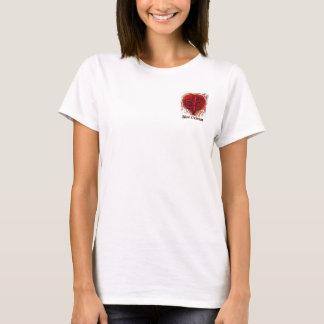 Fleur De Lis Heart Pocket Design T-Shirt