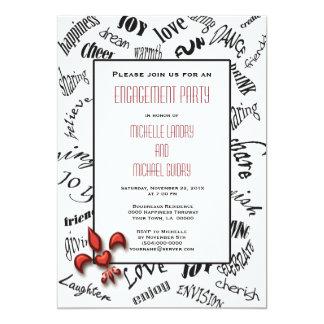 Fleur de lis Heartfelt Expressions Engagement Card