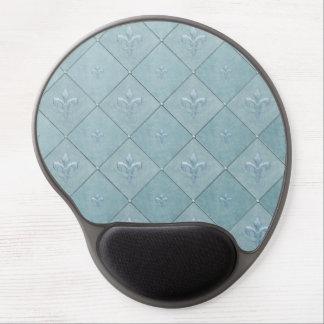 Fleur De Lis in Aqua Gel Mouse Pad