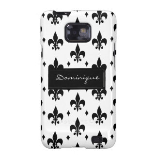Fleur de Lis in Black and White Samsung Galaxy S2 Cover