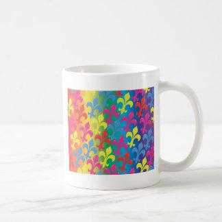 Fleur De Lis in Full Basic White Mug