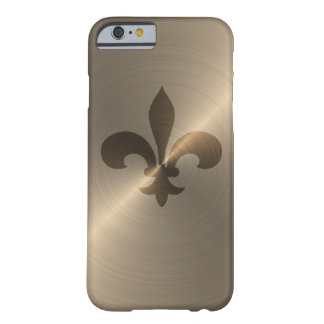 Fleur De Lis In Gold Barely There iPhone 6 Case