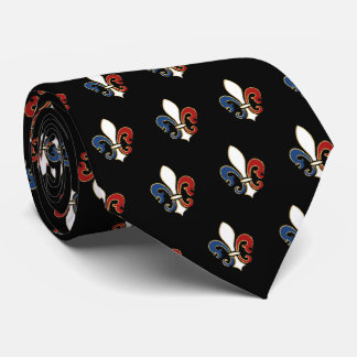 Fleur De Lis in Red White and Blue Tie