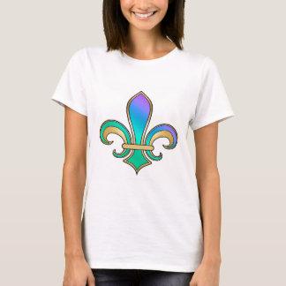 Fleur de Lis in shaded rainbow colors  - 6 T-Shirt