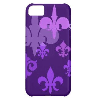 Fleur de Lis in Shades of Purple iPhone 5C Cases