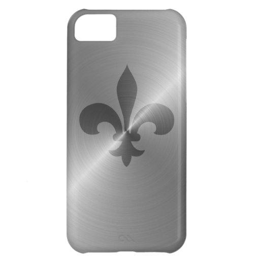 Fleur De Lis in Steel Case For iPhone 5C