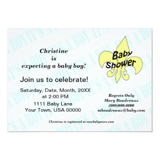Fleur de Lis It's a Boy Baby Shower Card